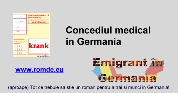 Concediul medical in Germania