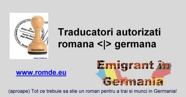 Traducatori autorizati in Germania