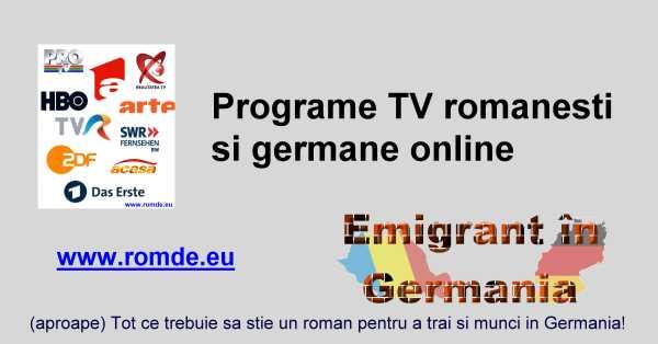 Programe Tv Romanesti Online Gratis In Direct